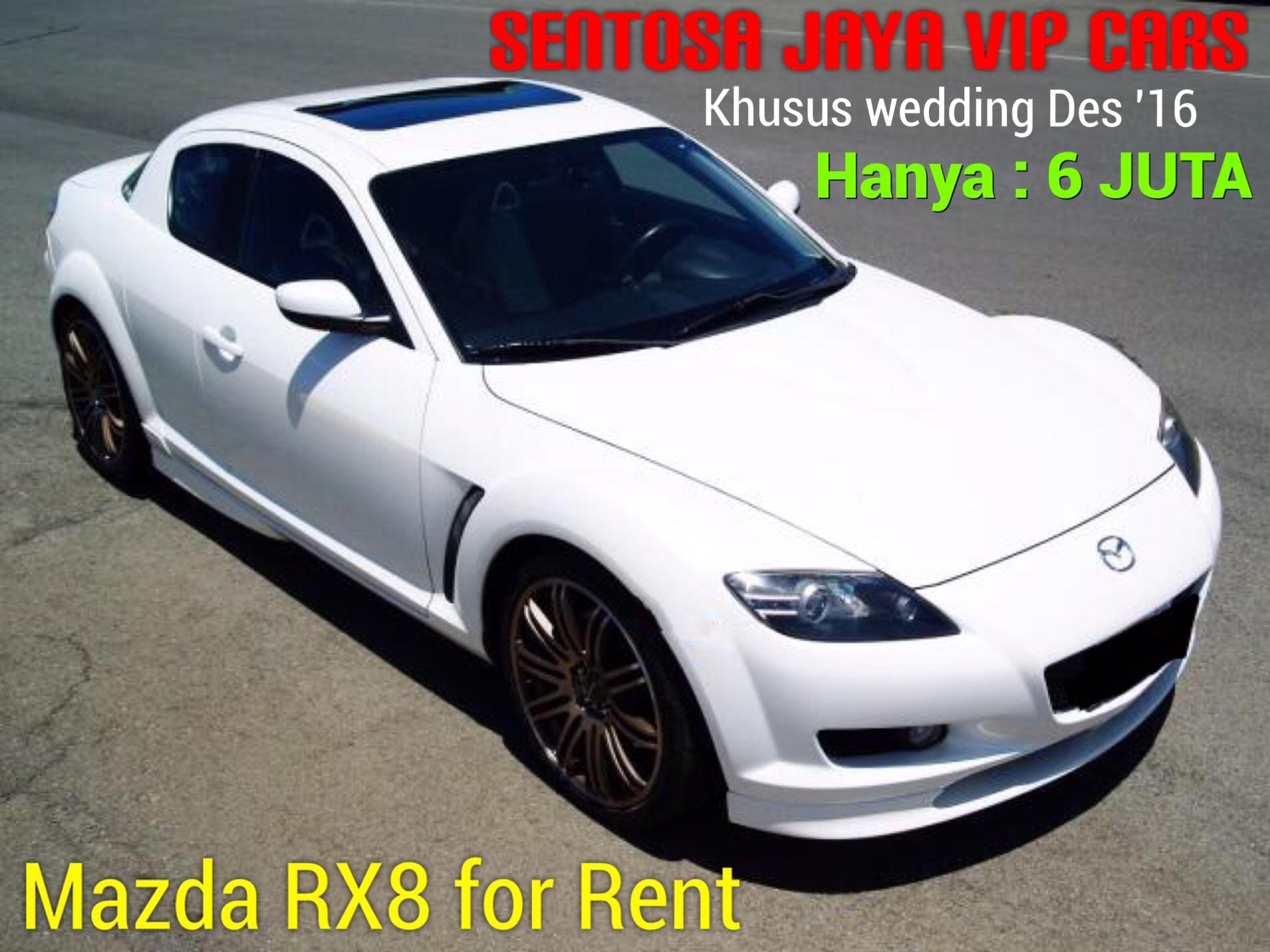 rental mobil mewah murah mazda rx8 putih wedding surabaya
