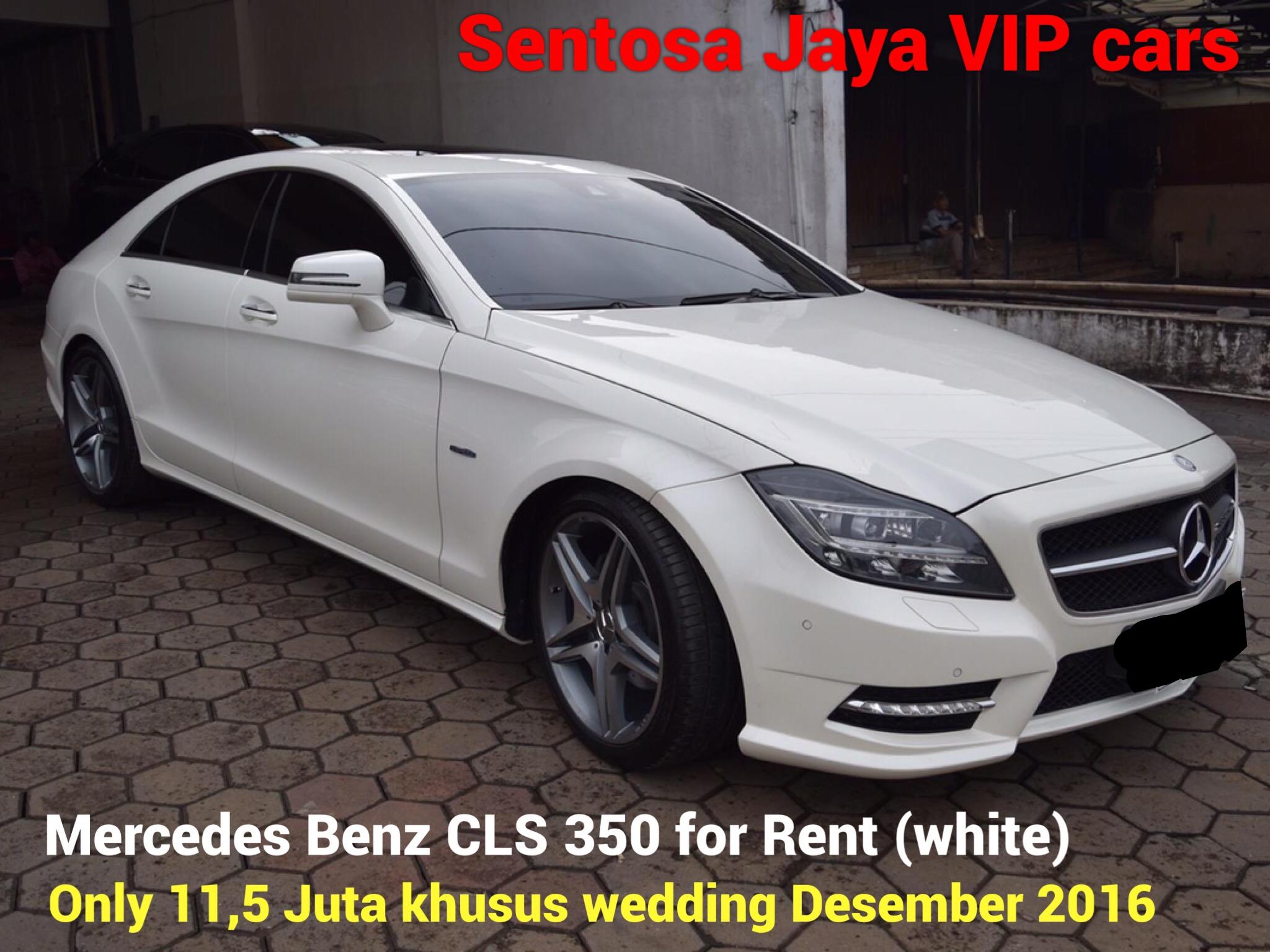 rental mobil mewah murah mercy mercedes benz cls 350 putih wedding surabaya