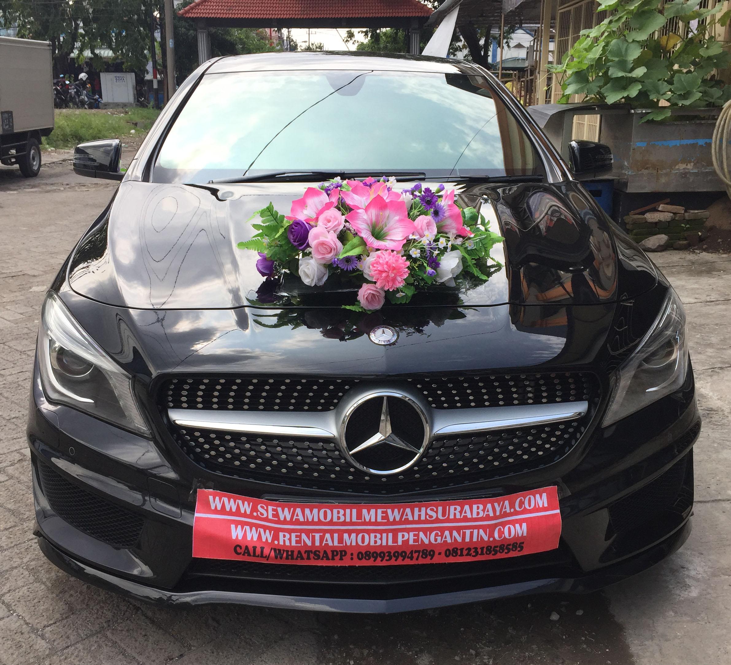 rental mobil mewah murah mercy mercedes benz cla cls wedding pengantin surabaya
